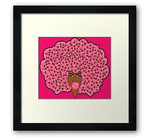 Bubble Gum Fly Framed Print
