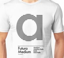 The Letter a Futura Type Unisex T-Shirt