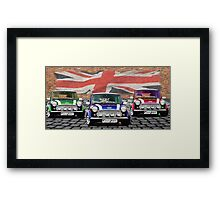 Mini Cooper Trio  Framed Print