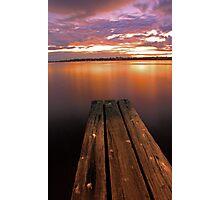 Swan River Jetty Sunset  Photographic Print