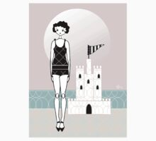 1920s Flapper Gatsby Girl Beach Sand Castle  Kids Clothes
