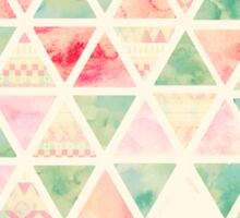 Abstract Triangles Pattern Pink Turquoise Tie dye  Sticker