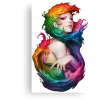 Colorful Girl Canvas Print