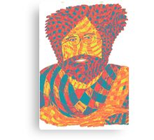 Jerry Garcia Psychedelic Canvas Print