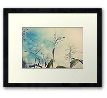up to one's ears in Framed Print