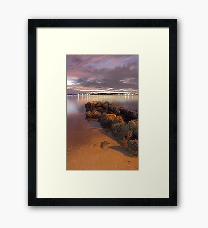 Swan River Rocks  Framed Print