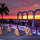 sunset with culture - puesta del sol con cultura by Bernhard Matejka