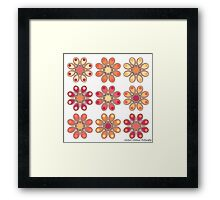 Apricot Foot Flowers Framed Print