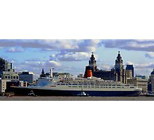 Qe2 at Liverpool 2008 Photographic Print