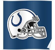 indianapolis colts helmet logo Poster