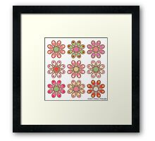 Raspberry Foot Flowers Framed Print