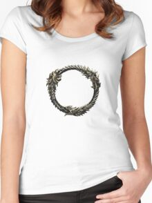The Elder Scrolls: Online logo Women's Fitted Scoop T-Shirt