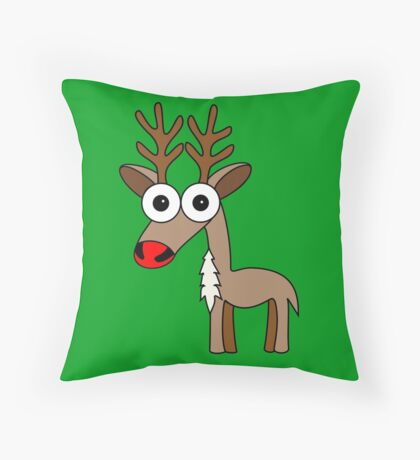 Rudolph (the red nosed reindeer) Throw Pillow
