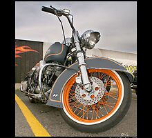 """Harley-Davidson Shovelhead Custom at Top Gun"" by Don Bailey"