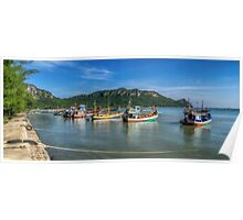 Thai Fishing Harbour Poster