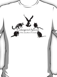 Endangered Species of the Southern Forests T-Shirt