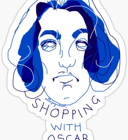 """shopping with Oscar Wilde"" Sticker"