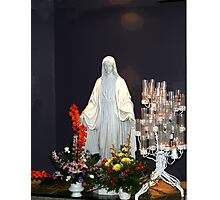 Statue of Mary Photographic Print