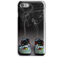 Cartoon explosion in sneakers iPhone Case/Skin