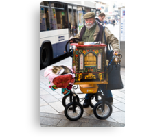 Swiss organ grinder & friend Metal Print