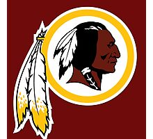 washington redskins logo Photographic Print