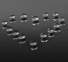 Drops on a mirror by Tony Eccles