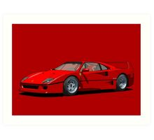 Ferrari F40 1987 Rosso Corsa Art Print
