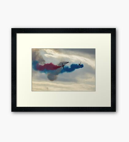 red arrows at biggin hill 2014 Framed Print