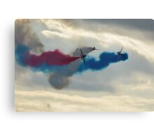 red arrows at biggin hill 2014 Canvas Print