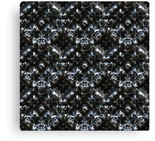Abstract metallic armor Canvas Print
