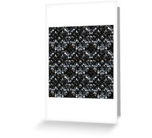 Abstract metallic armor Greeting Card