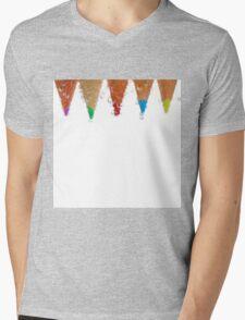 Bubbles and colour Mens V-Neck T-Shirt