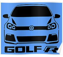 VW Golf R Front View Poster