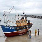 Stranger On The Shore --Lyme, Dorset. Uk by lynn carter