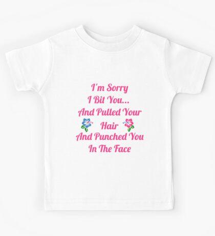 I'm Sorry I Bit You... Kids Tee