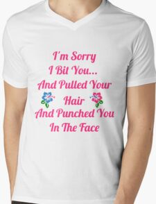 I'm Sorry I Bit You... Mens V-Neck T-Shirt