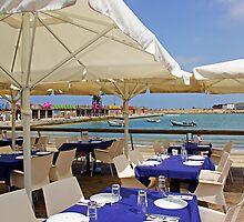 Cafe in Port of Tel Aviv by coralZ