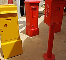 Old mail boxes by coralZ