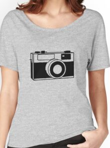 35mm camera (black) Women's Relaxed Fit T-Shirt