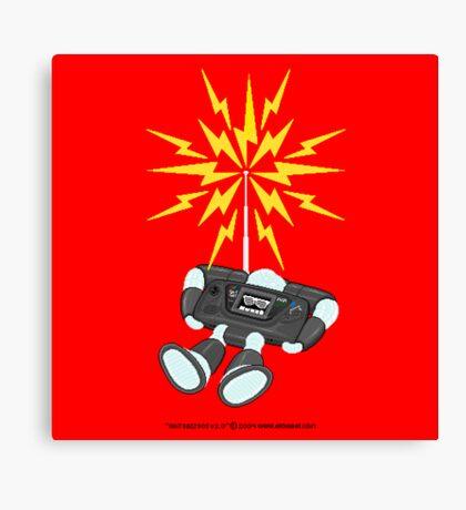 """8 Bit Buzz Bot v2.0.3 """"GearRoid"""" Canvas Print"""
