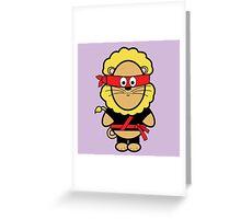 Victor the ninja Greeting Card