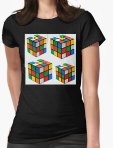 Rubiks Cuboid Womens Fitted T-Shirt
