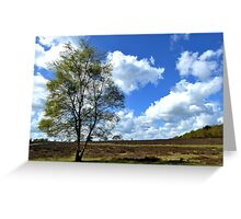 Spring clouds on the heath Greeting Card