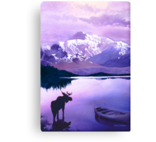 """Purple Majesty"" Watercolor Canvas Print"