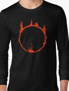 Dark Sign - Red  Long Sleeve T-Shirt