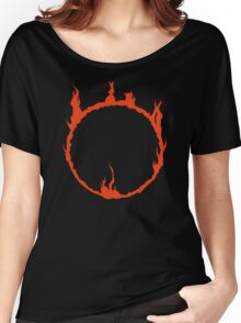Dark Sign - Red  Women's Relaxed Fit T-Shirt