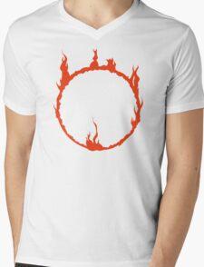 Dark Sign - Red  Mens V-Neck T-Shirt