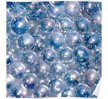Blue Beads Poster
