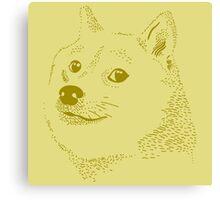Doge wow vector meme Canvas Print