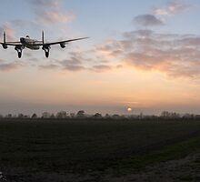 Lancaster sunset by Gary Eason + Flight Artworks